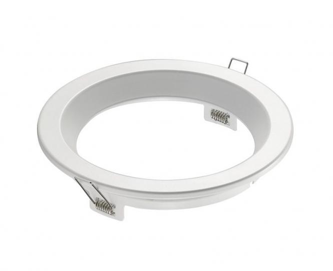 Einbauring, 6 Zoll für Downlights, weiß mit Halteklammern