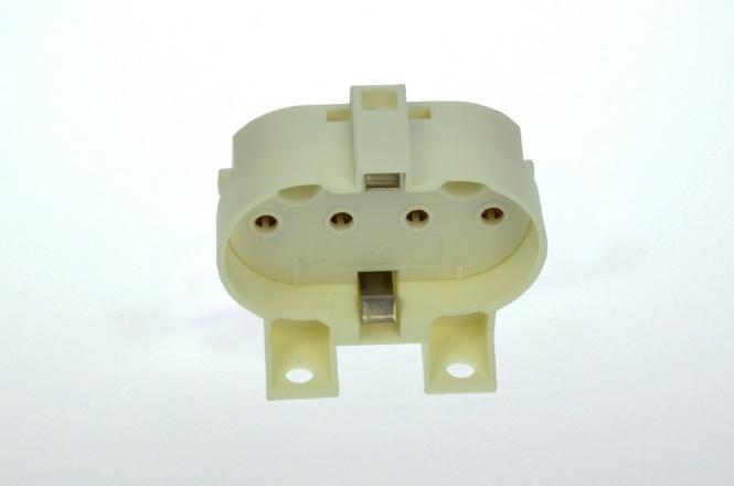 LED-Halter für Kompaktleuchtstofflampe 2G11, weiß