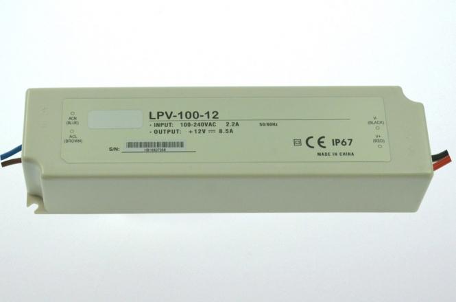 12V LED-Netzteil 100W DC IP67