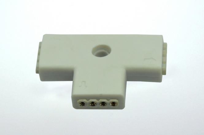 Eckverbinder, 90°, 4 polig, weißes PCB